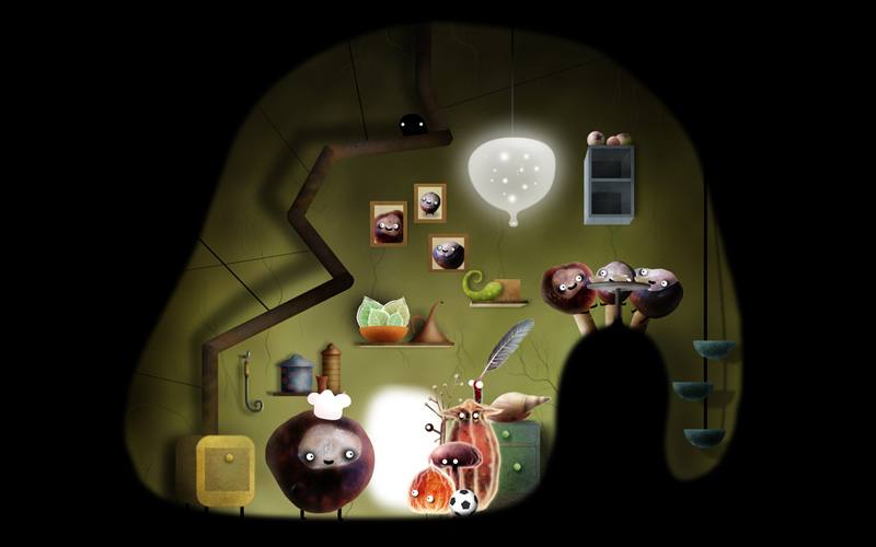 Making your way through the world of Botanicula will introduce you to a world of peculiar and entertaining characters.