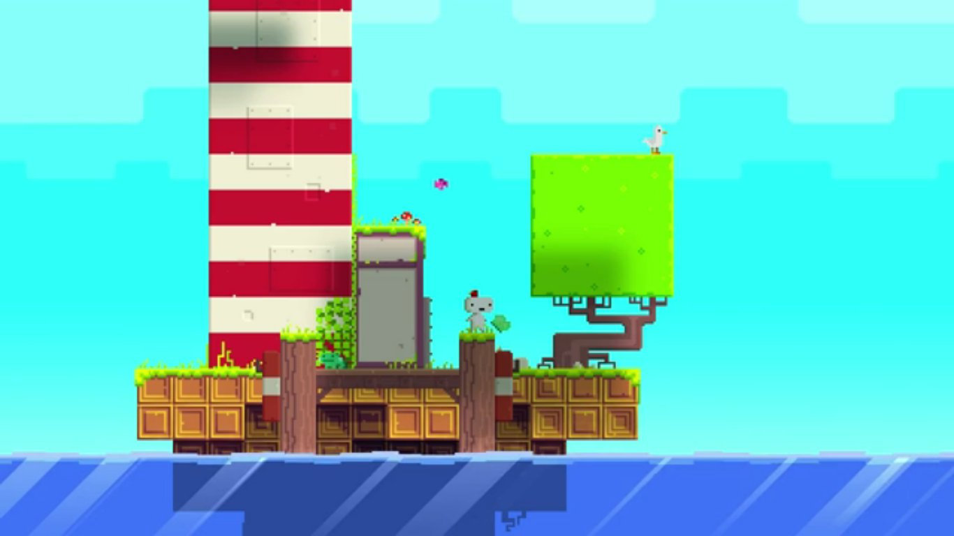 Fez's environments are painstakingly detailed for a pixelated art design.