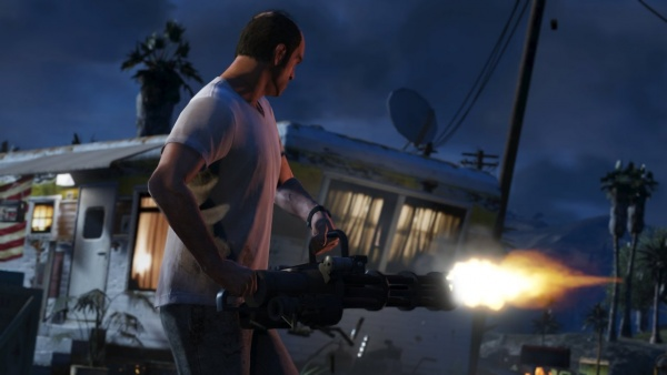 "There's nothing ""mini"" about the GTA 5 minigun."