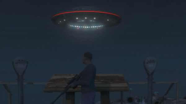 The flying UFO appears at 3:00AM, and stays until sunrise.