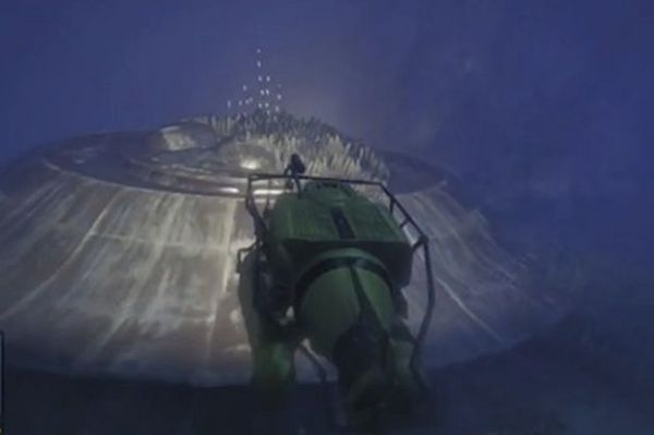 You'll need a submarine to explore the sunken UFO crash site in GTA 5.
